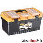 جعبه ابزار 19 اینچ مانو قفل پلاستیکی به همراه ارگانایزر PT19